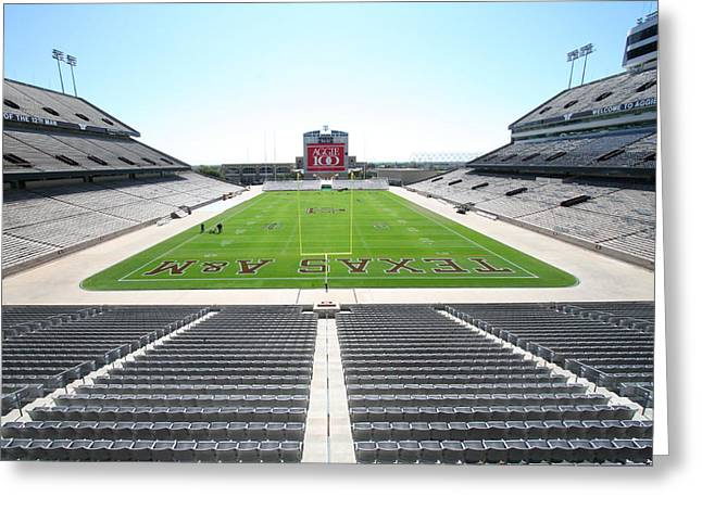 Kyle Field Greeting Card by Georgia Fowler