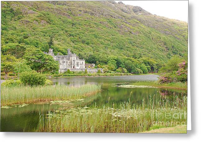 Greeting Card featuring the photograph Kylemore Abbey 1 by Mary Carol Story