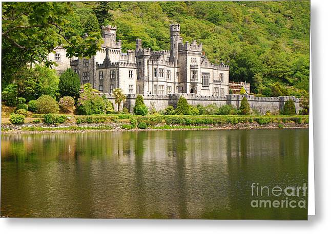 Greeting Card featuring the photograph Kylemore Abbey 2 by Mary Carol Story