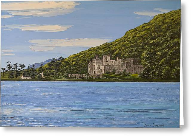 Kylemore Abbey Connemara Co Galway Greeting Card by Diana Shephard