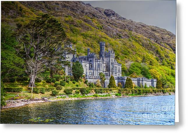 Kylemore Abbey Greeting Card by Juergen Klust