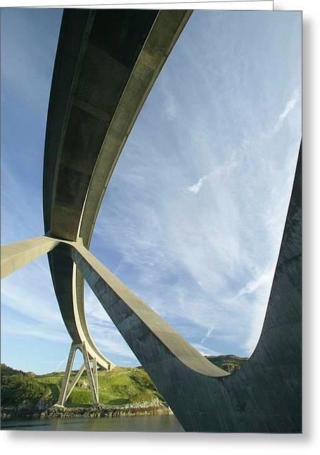 Kylesku Bridge In Assynt Greeting Card