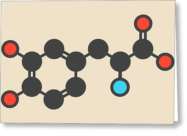 L-dopa Parkinson's Disease Drug Molecule Greeting Card