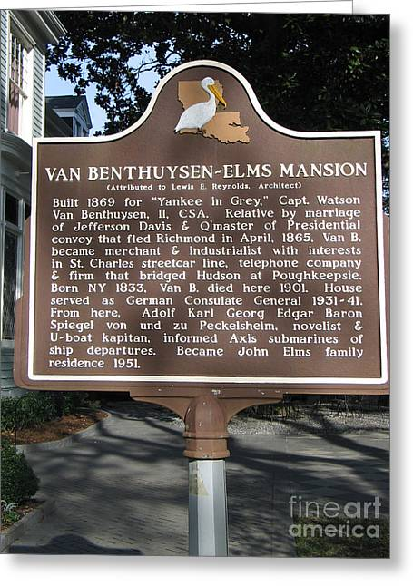 La-014 Van Benthuysen-elms Mansion Greeting Card