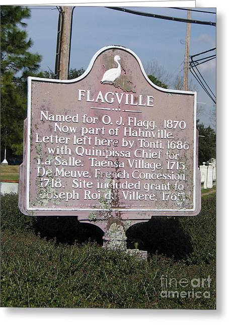 La-021 Flagville Greeting Card