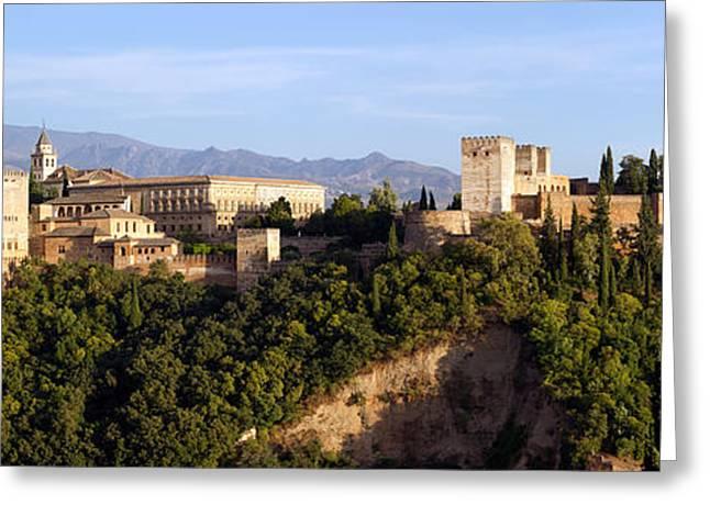 La Alhambra Panorama Greeting Card by Francesco Riccardo  Iacomino