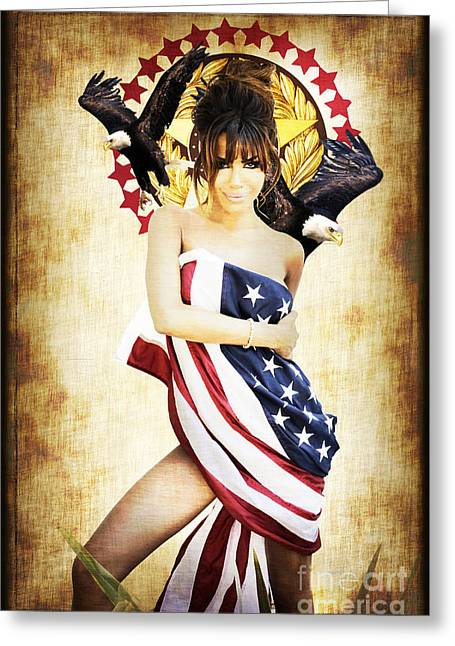 La Americana Greeting Card by D H Carter