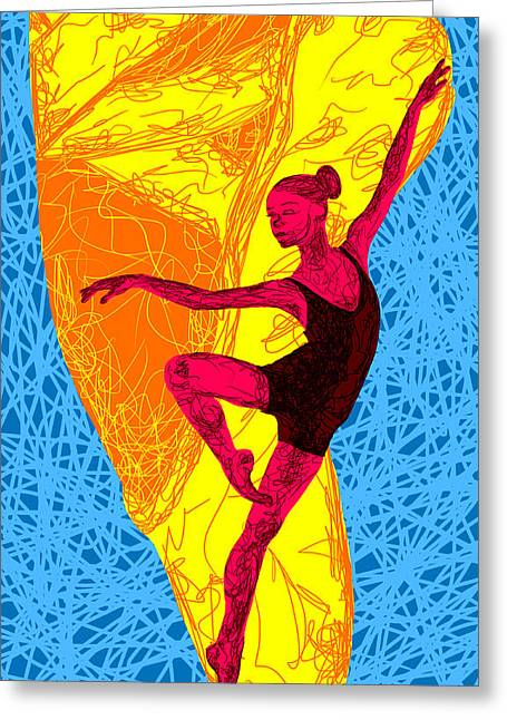La Ballerina Du Juilliard Greeting Card by Kenal Louis