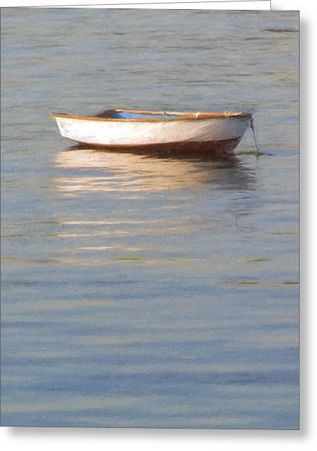 La Barque Au Crepuscule Greeting Card