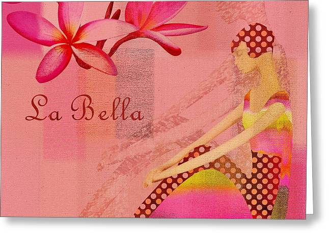 La Bella - Pink - 064152173-01 Greeting Card by Variance Collections
