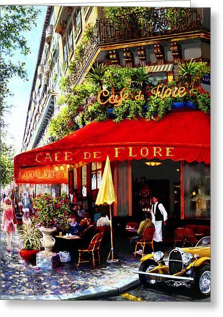 La Boheme Greeting Card by Miki Karni