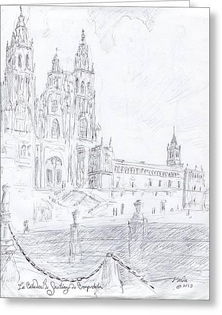 La Catedral De Santiago De Compostela Greeting Card