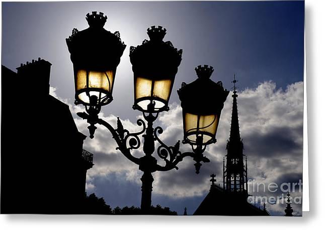 La Chapelle Paris Greeting Card by Colin Woods