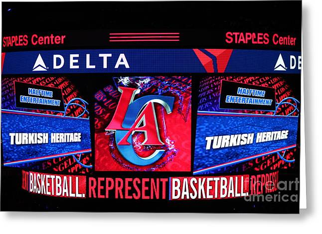 La Clippers Turkish Heritage Greeting Card by RJ Aguilar