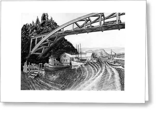 Rainbow Bridge La Connor Washington Greeting Card