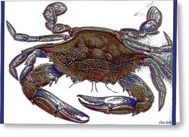 La' Crab Fest Greeting Card by Theo Bethel