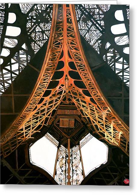 La Dame De Fer Greeting Card by Tom Roderick