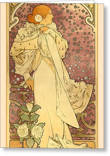 La Dame Greeting Card by Gary Grayson