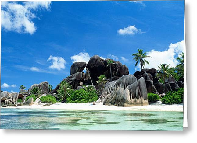 La Digue Seychelles Greeting Card by Panoramic Images