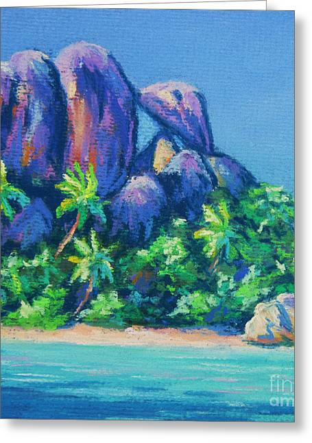 La Digue Square Greeting Card
