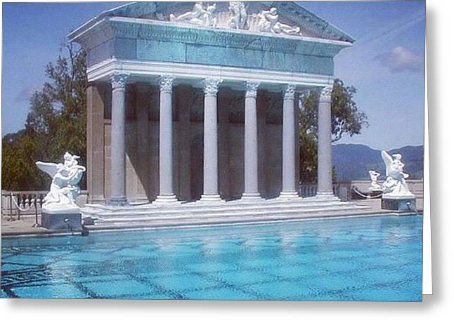 La Dolce Vita At Hearst Castle - San Simeon Ca Greeting Card