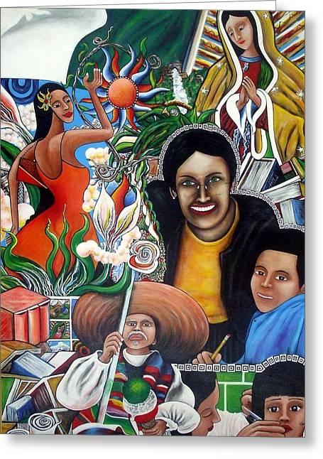 La Familia Greeting Card by Randy Segura