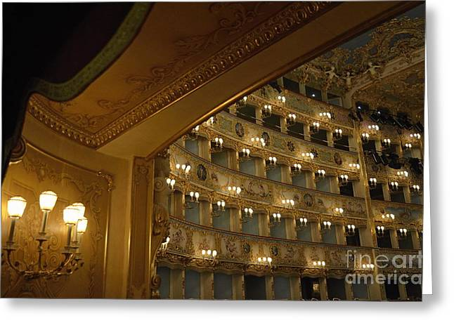La Fenice Opera Theater Greeting Card by Sami Sarkis