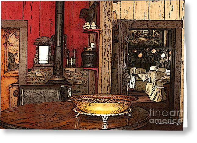 La Ferme Restaurant In Genoa Nevada Greeting Card by Artist and Photographer Laura Wrede