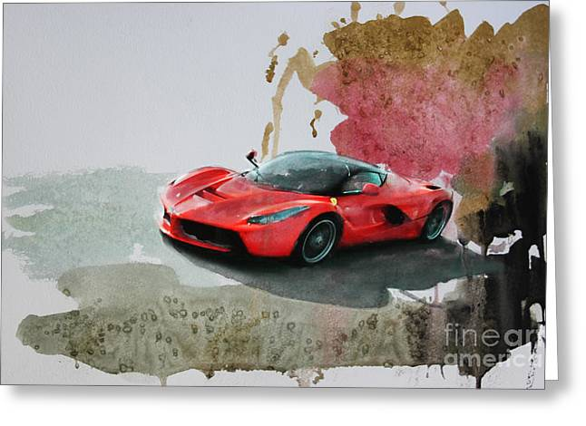 La Ferrari Greeting Card by Roger Lighterness