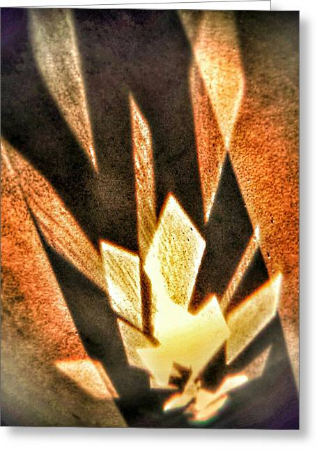 Greeting Card featuring the photograph La Flamme Qui Enflamme Sans Bruler by Steven Huszar