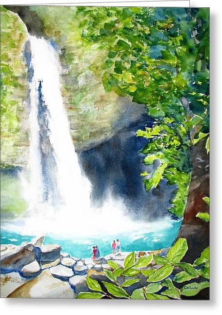 La Fortuna Waterfall Greeting Card by Carlin Blahnik