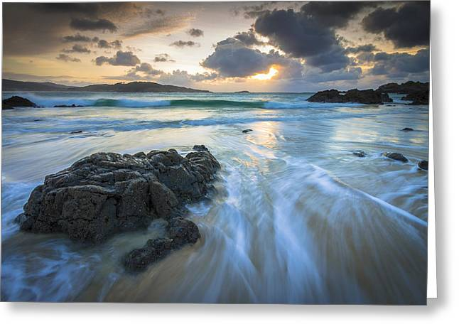 Greeting Card featuring the photograph La Fragata Beach Galicia Spain by Pablo Avanzini