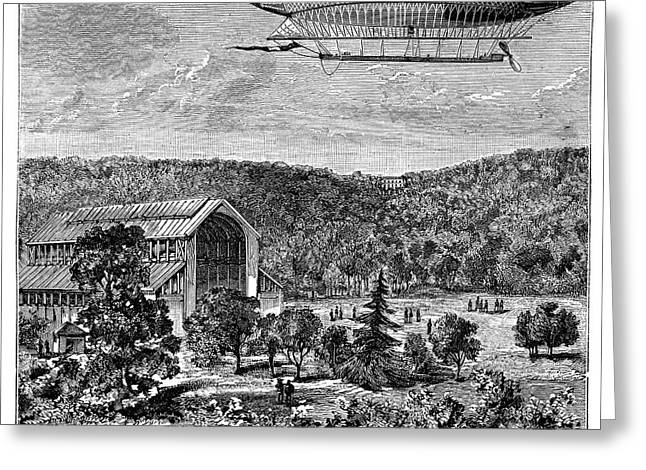 'la France' Electric Airship Greeting Card