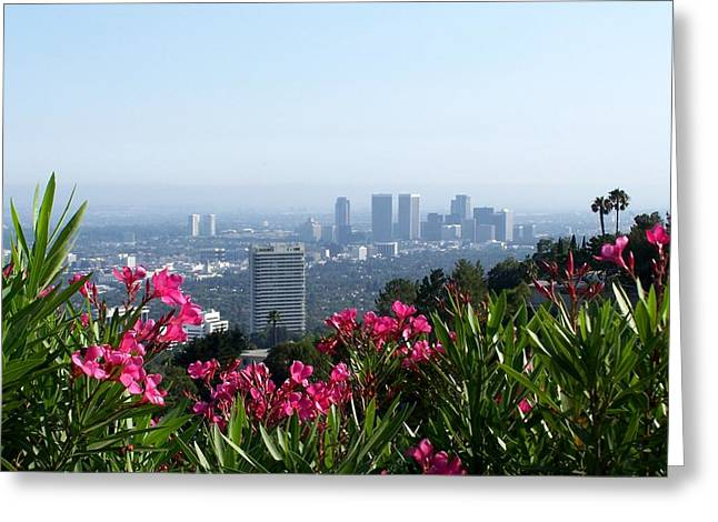 Greeting Card featuring the photograph L.a. From Beverly Hills by Dany Lison