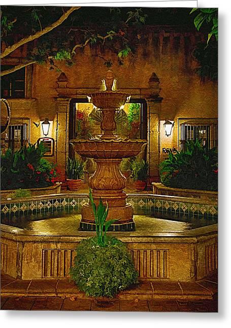 La Fuente At Tlaquepaque Greeting Card by Priscilla Burgers