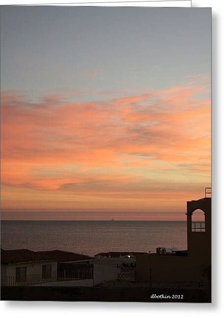 Greeting Card featuring the photograph La Hacienda Sunrise by Dick Botkin