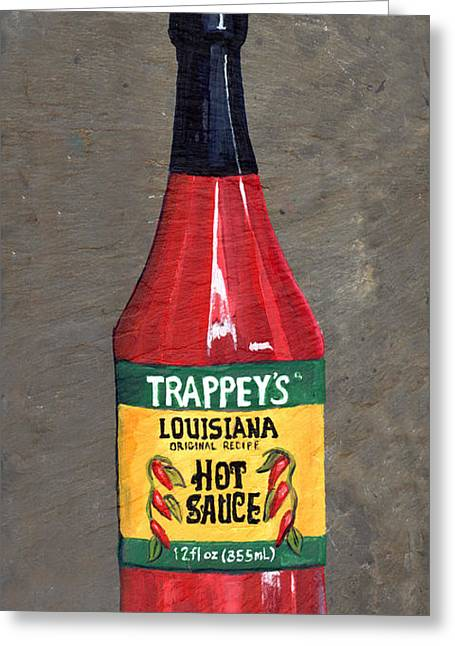 La Hot Sauce Greeting Card by Elaine Hodges