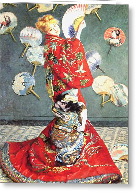 La Japonaise Greeting Card by Claude Monet