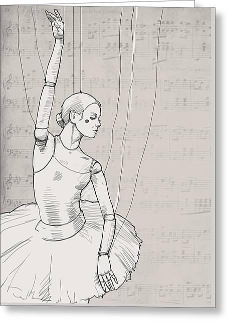 La Jolie Petite Marionnette. Greeting Card by H James Hoff