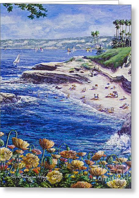 La Jolla Beach Greeting Card
