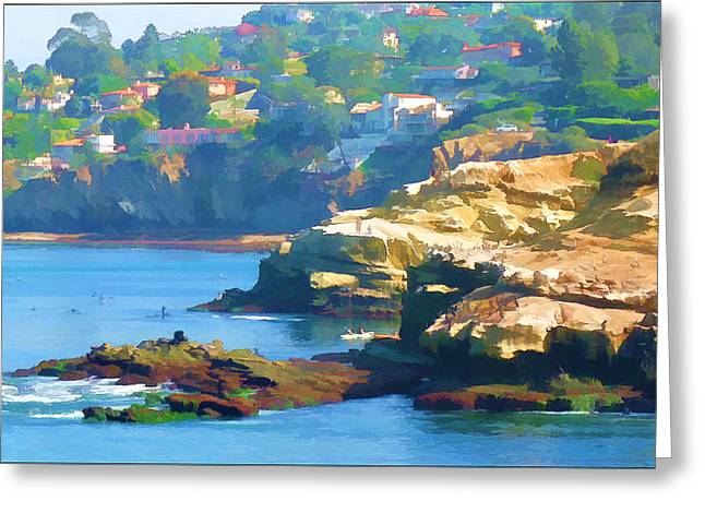 La Jolla California Cove And Caves Greeting Card by Douglas MooreZart