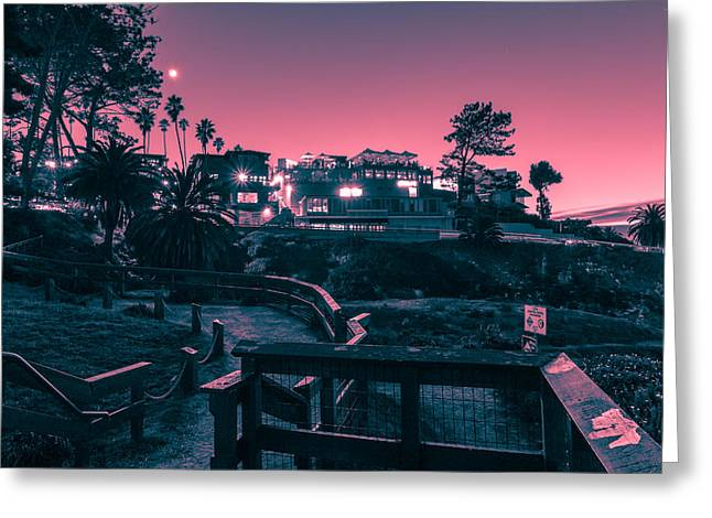 La Jolla Cove Greeting Card by Sonny Marcyan