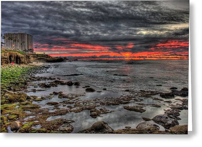 La Jolla Cove Sunset Greeting Card
