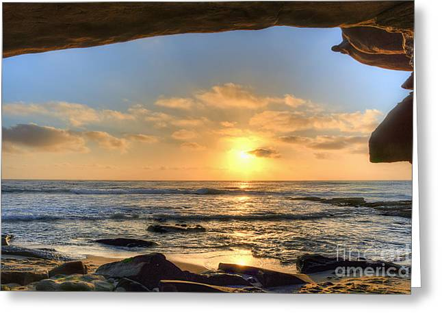 La Jolla Shores Greeting Card by Eddie Yerkish