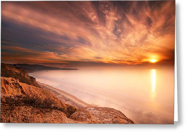 La Jolla Sunset 5 Greeting Card