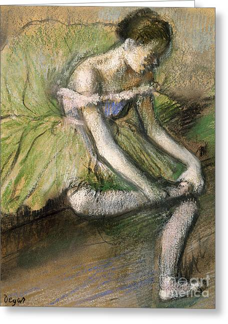 La Jupe Verte Greeting Card by Edgar Degas