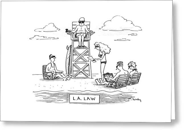 L.a. Law Greeting Card