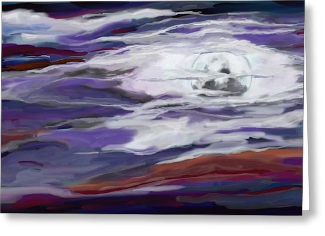 La Luna 2 Greeting Card by Jeanne Fischer