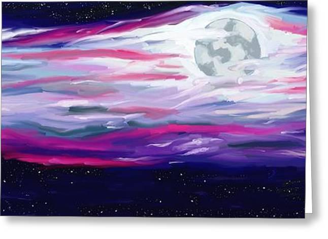 La Luna 5 Greeting Card by Jeanne Fischer
