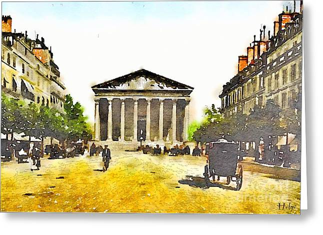 La Madeleine 1890 Greeting Card